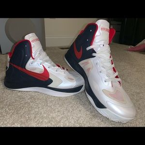 Nike Hyperfuse 'White/Red -Obsidian'